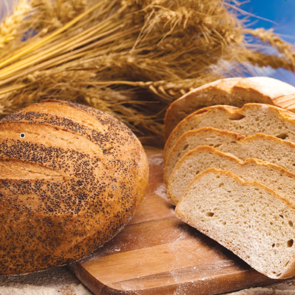 Recommended ingredients for traditional fresh bread