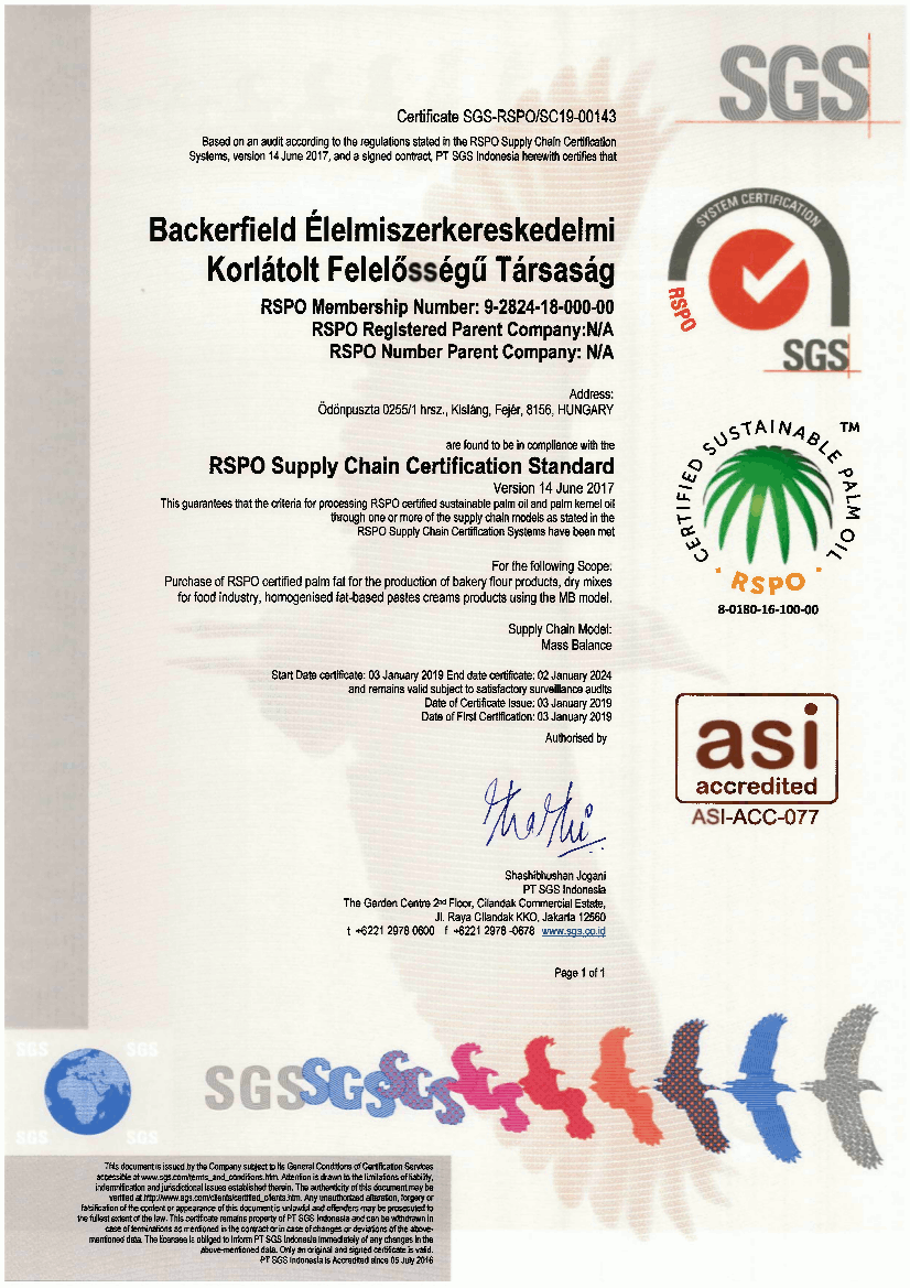 Backerfield_RSPO_Supplay_Chain_Certification_Standard