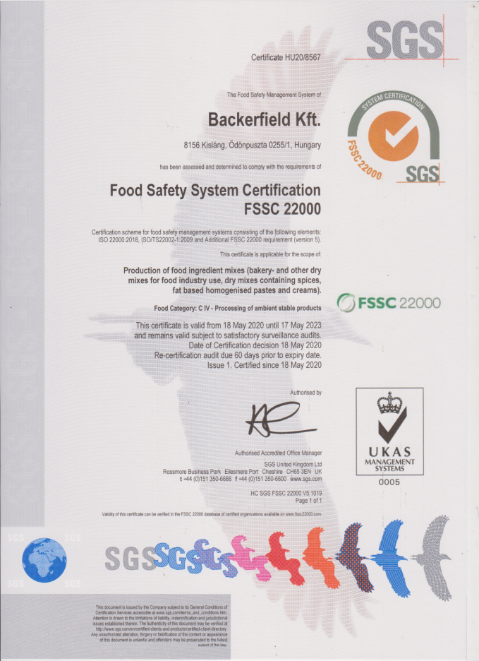 Backerfield_FSSC22000_cert